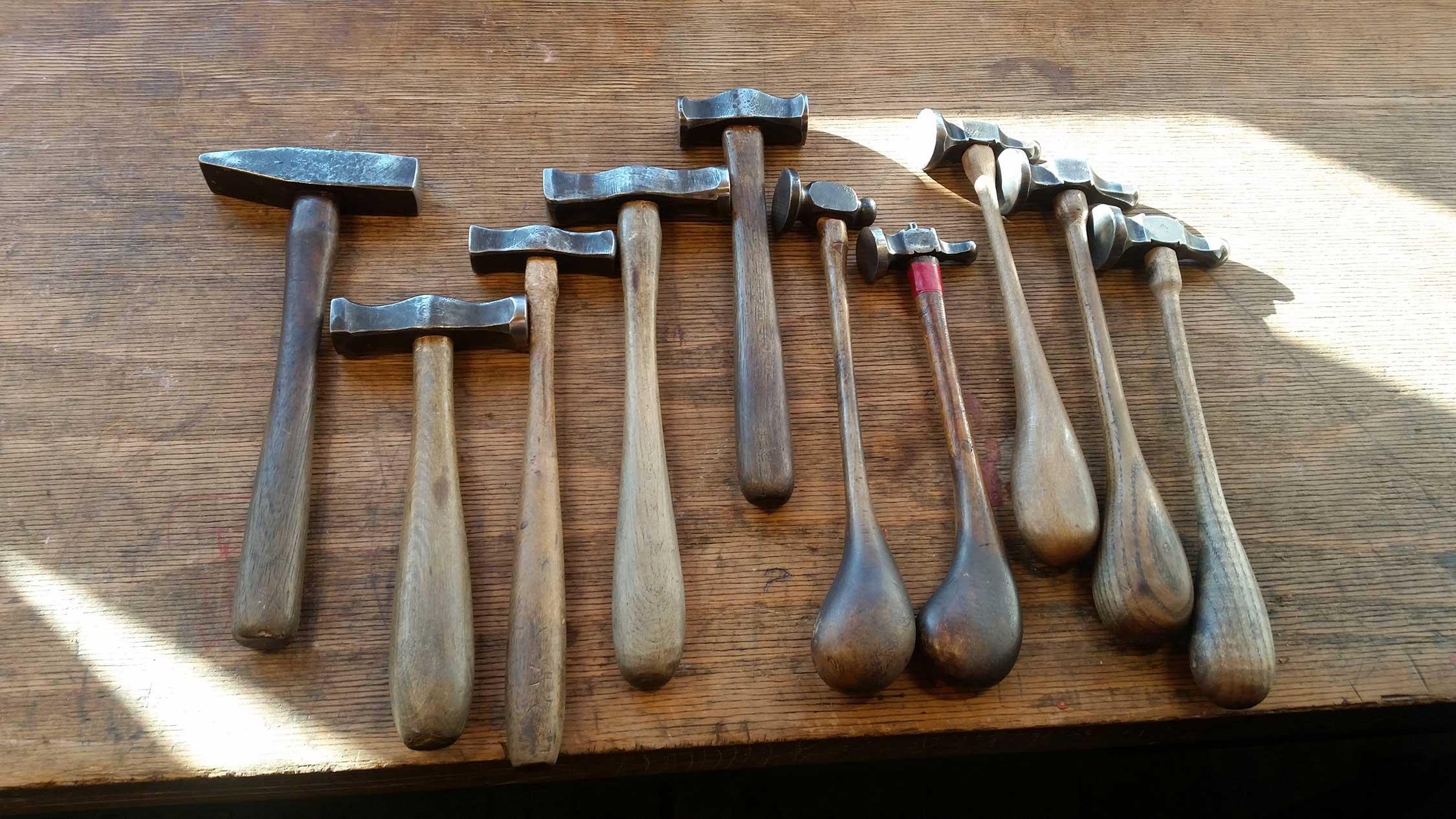 Werkzeug - Ziselier- und Treibhämmer